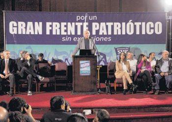 Acto en Argentina a favor de una gran coalición contra Macri en la elecciones generales