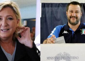La Liga de Salvini gana las elecciones europeas en Italia y Le Pen triunfa en Francia