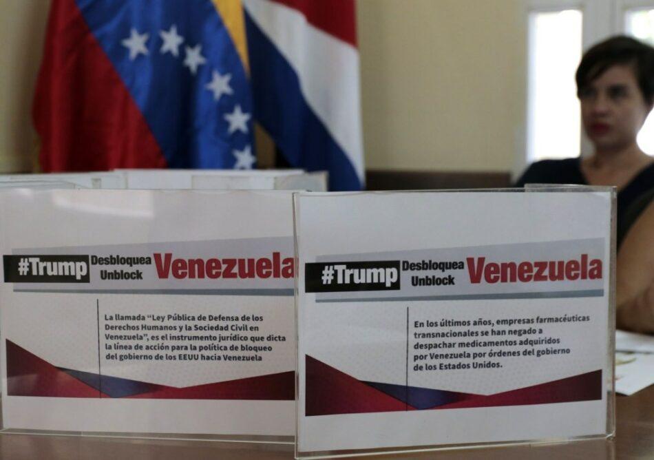 Un #TrumpDesbloqueaVenezuela mundial por el fin del bloqueo a Venezuela