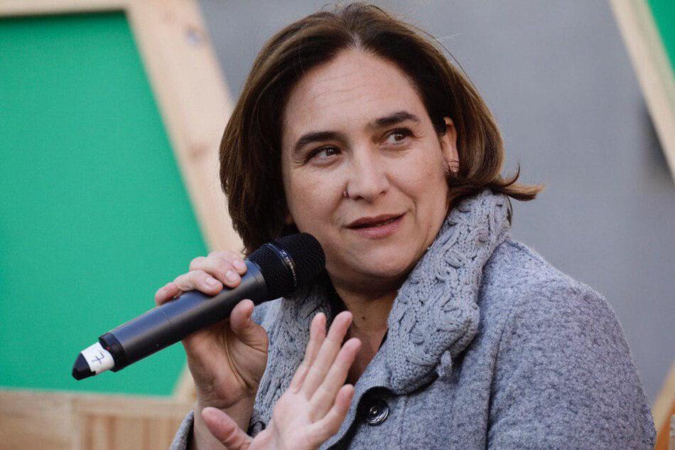 Ada Colau anuncia la rebaixa del 16% de l'aigua amb una gestió pública i demana un posicionament clar a ERC i PSC