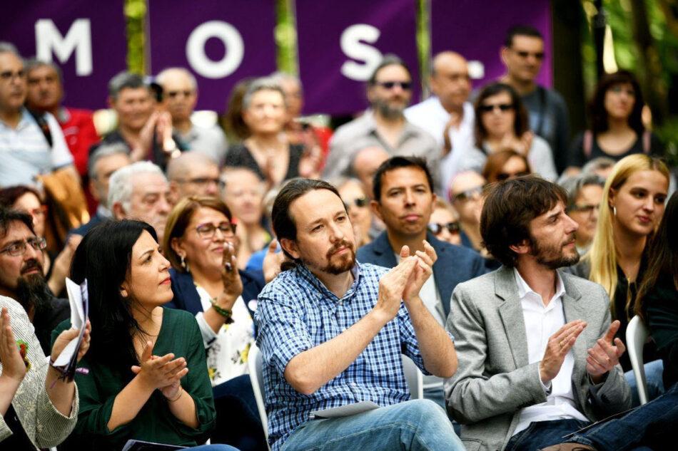 Pablo Iglesias, en Pamplona: «Ahora nos toca cambiar las cosas gobernando en Navarra y en España»