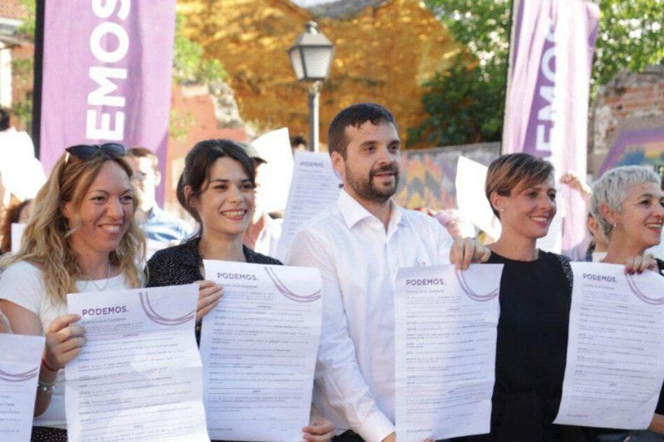 Unidas Podemos IU-Madrid En Pie firma un contrato de compromiso y lealtad con la ciudadanía
