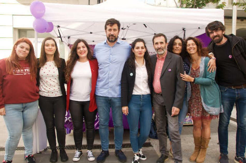 Eva Solla e Vanessa Angustia arroupan a candidatura de Podemos-EU Son En Común en Pontevedra para poñer en práctica medidas sociais por e para a cidadanía