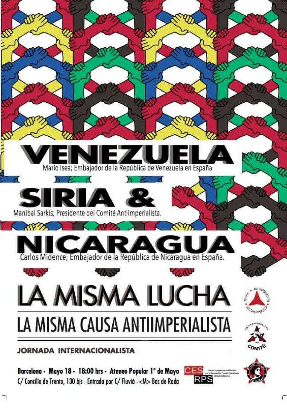 Venezuela, Siria y Nicaragua: La misma lucha, la misma causa antiimperialista. Acto en Barcelona