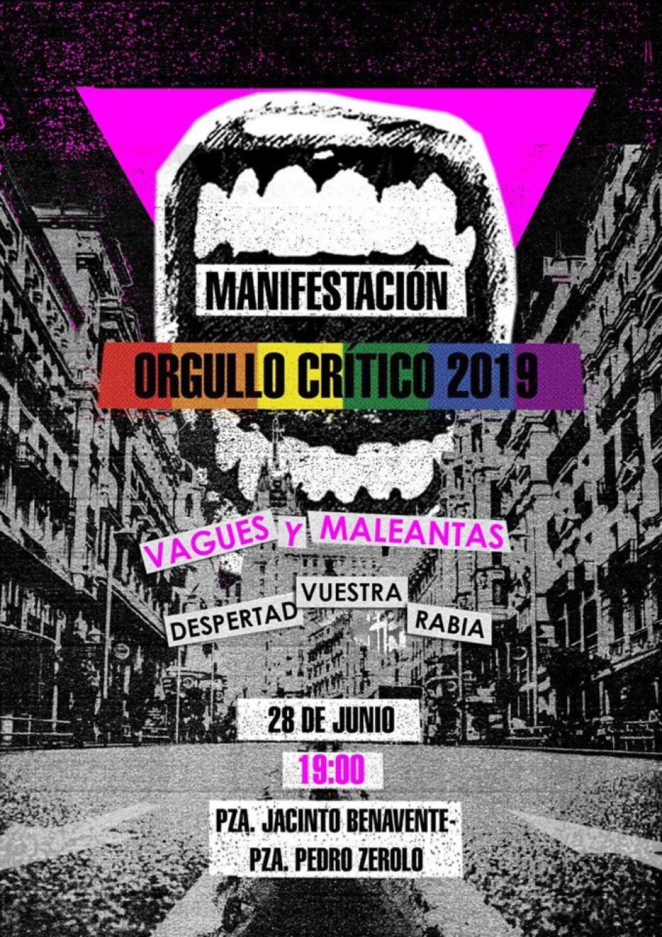 Orgullo Crítico en Madrid: «¿Por qué una convocatoria alternativa a MADO?»