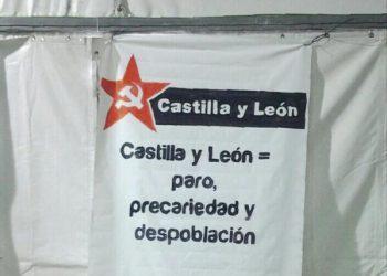 La UJCE y el PCE denuncian la precariedad laboral a la que se tienen que enfrentar los trabajadores de León