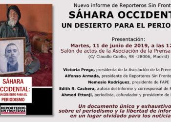 Reporteros Sin Fronteras presenta el informe 'Sáhara Occidental, un desierto para el periodismo'