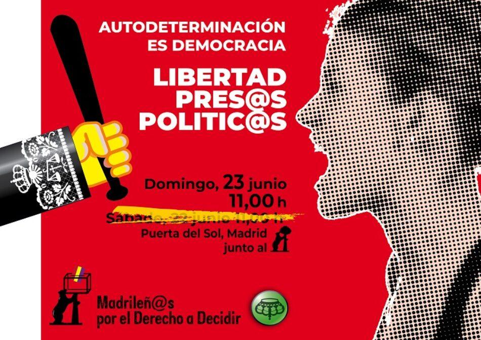 Madrileñ@s por el Derecho a Decidir convoca moviliación tras finalizar el juicio del «procés»: 23J