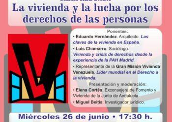 Disertan en Madrid sobre la lucha de las personas por el derecho a la vivienda