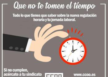 CCOO lanza una campaña de información sobre la nueva regulación del registro horario