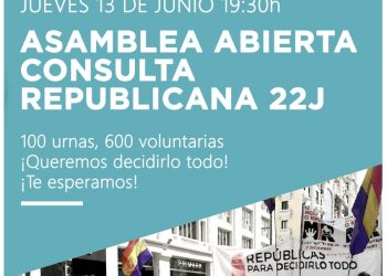 Cien urnas y 100.000 papeletas en centro de Madrid para la Consulta Republicana del 22 de junio