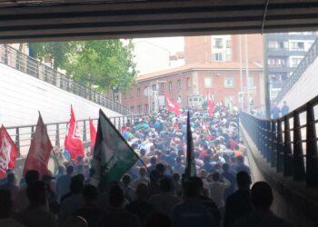 CGT muestra su apoyo a las compañeras en huelga del sector metalúrgico de Bizkaia