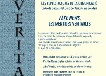 'Fake news, las mentiras verdaderas', segunda sesión del ciclo de debates del grupo de Periodismo Solidario