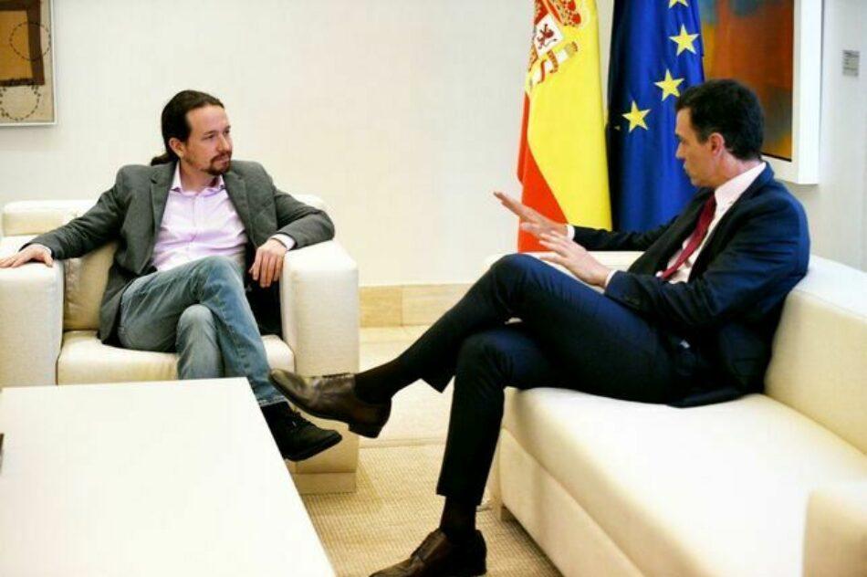 El PSOE se enroca en su fórmula de «Gobierno de cooperación» sin presencia de Unidas Podemos en el Consejo de Ministros