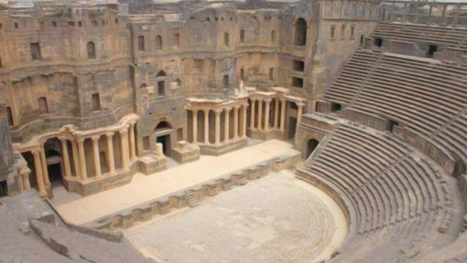 Ciudad siria de Bosra inicia reconstrucción de partes antiguas dañadas por los terroristas