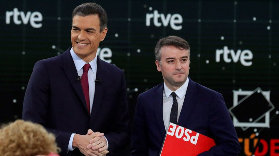 Pedro Sánchez en abril de 2019: «no es ningún problema [que entre en el Gobierno Podemos]»