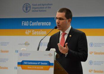 Discurso del canciller Jorge Arreaza ante el Segmento de Alto Nivel de la 41ª Conferencia de la FAO