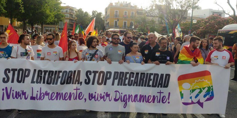 IU Andalucía reivindica la defensa de los derechos LGTBI como uno de sus pilares fundamentales