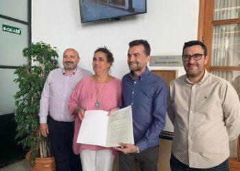 Antonio Maíllo y Ángela Aguilera registran la enmienda de totalidad de Adelante Andalucía a los PJA