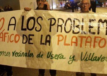 La vecindad protesta de nuevo por las obras de la planta logística de Villaverde