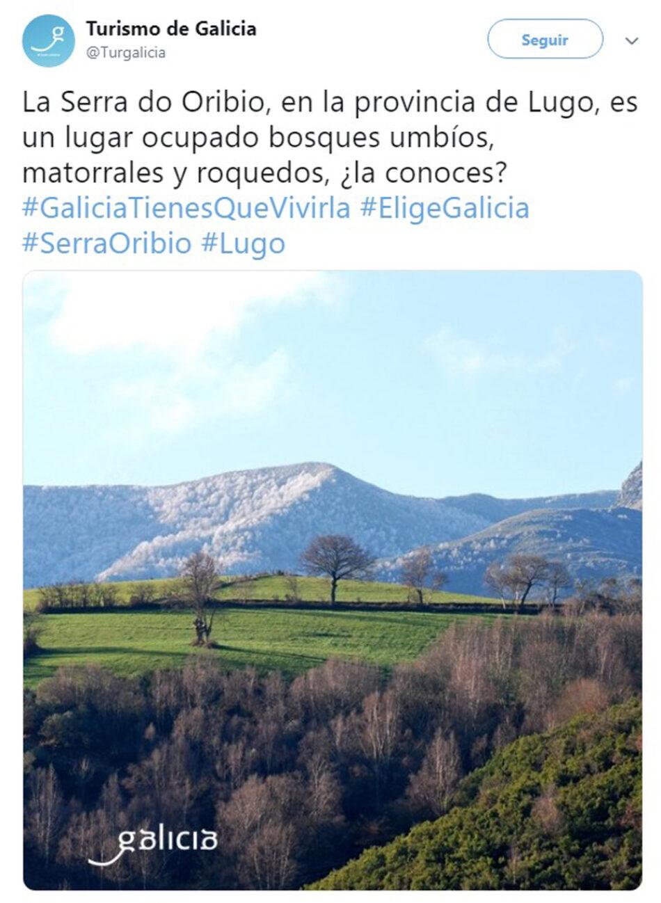 Turgalicia promociona la Serra do Oribio mientras la Consellería de Industria permite su destrucción de sus cumbres