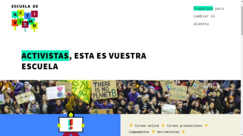 Greenpeace y Novact inauguran la primera escuela en España para promocionar el activismo