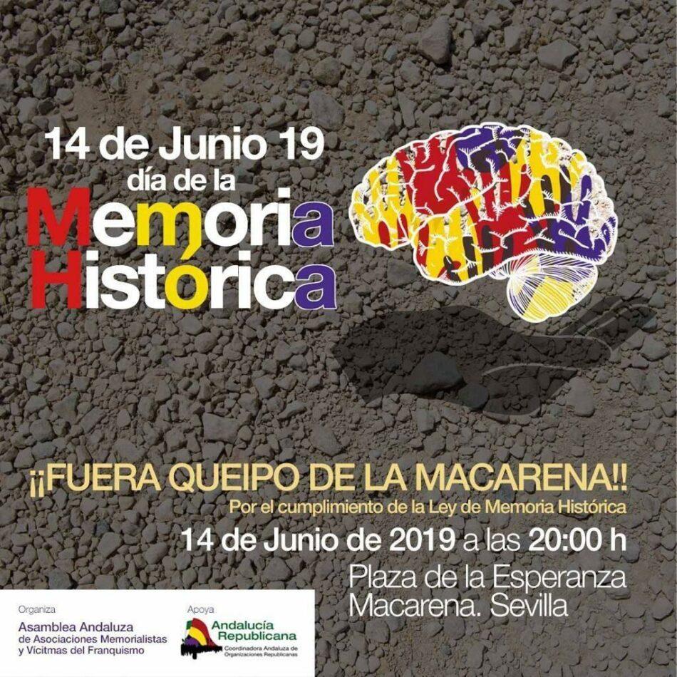 Convocada una concentración para exigir el traslado del genocida franquista: «¡Fuera Queipo de la Macarena!»