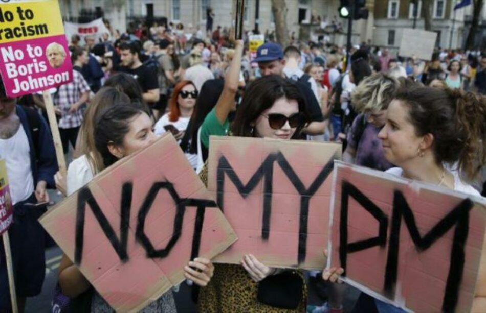 Gran Bretaña. Protestas masivas contra Boris Johnson