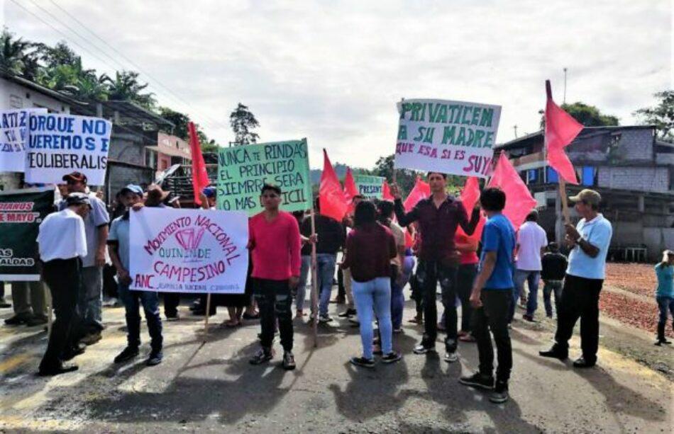 Ecuador. Primer día de Paro Nacional en defensa de la soberanía nacional, contra el desempleo y agudización de la pobreza
