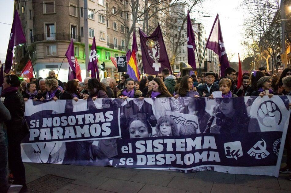 En apoyo a Lourdes Abarca, de la Asamblea 8M Zaragoza