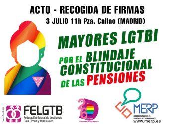 Mayores LGTBI por el Blindaje Constitucional de las Pensiones
