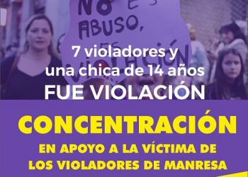 Concentración en apoyo a la víctima de los violadores de Manresa en Toledo: 8 de julio