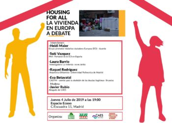 "4 de julio: se lanza la Iniciativa Ciudadana Europea ""Housing For All"""