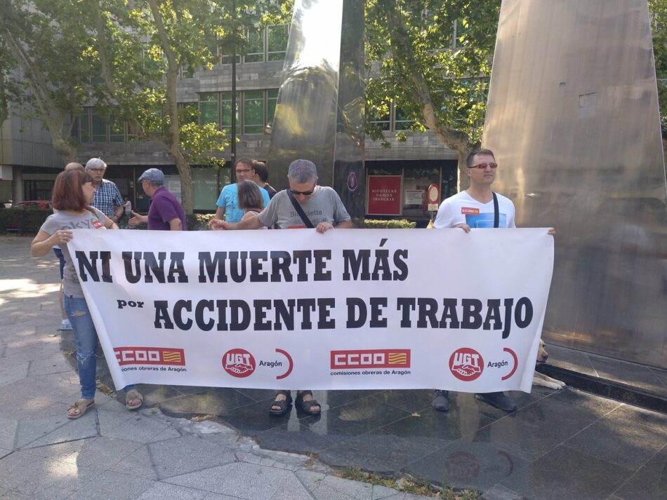 Sindicatos y partidos políticos lamentan una semana negra de siniestralidad laboral en Aragón