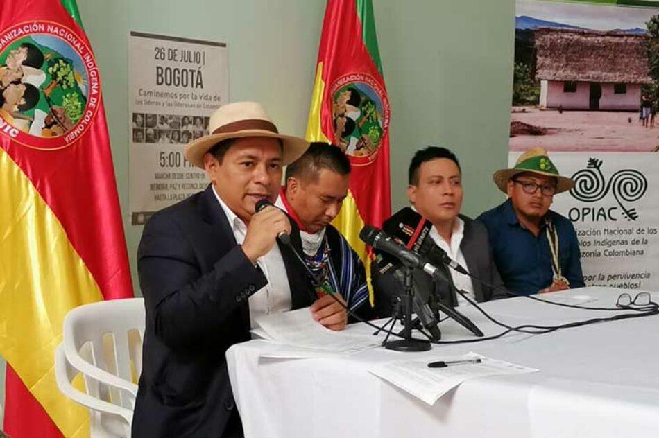 Nos encontramos en crisis humanitaria, afirman indígenas colombianos