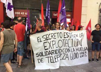 Rotundo éxito de la segunda huelga en QSR (Telepizza) Zaragoza