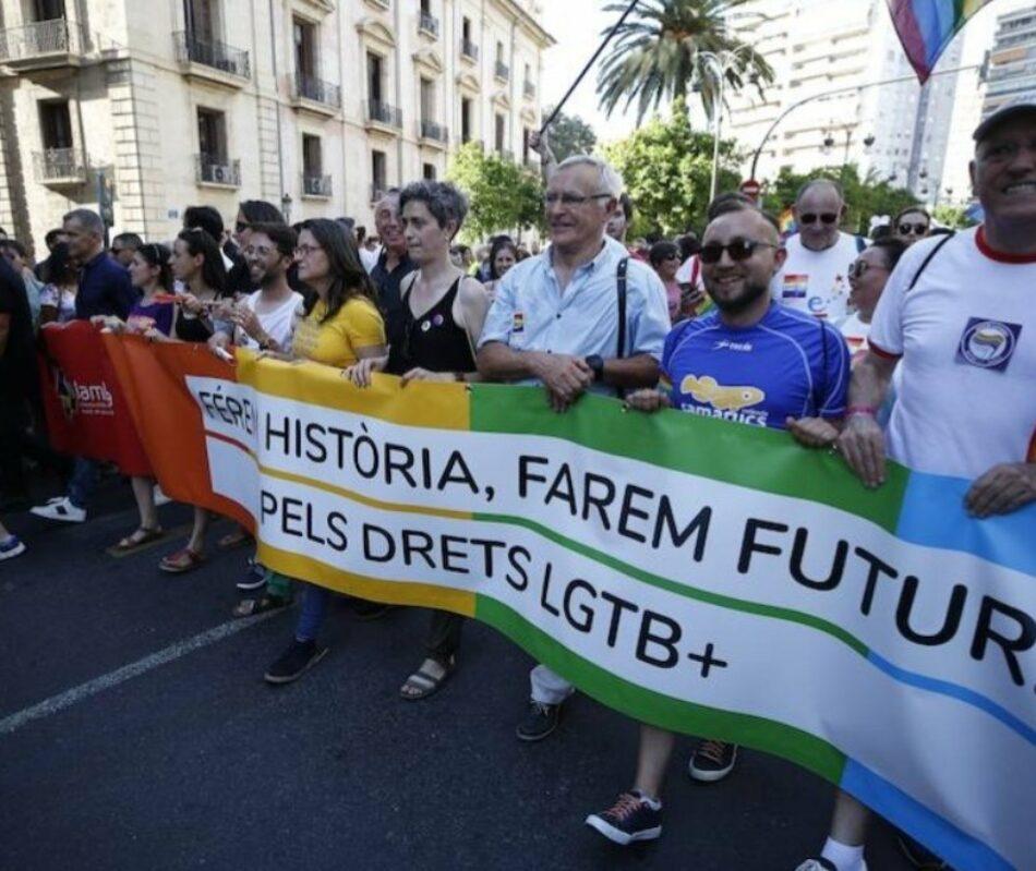 Compromís propondrá exportar a España la ley valenciana LGTBIQ+para sancionar los ataques de las extremas derechas al colectivo