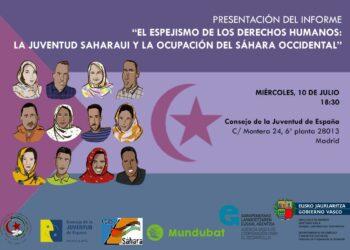 Un grupo de jóvenes activistas saharauis visitará Madrid para denunciar las vulneraciones de derechos humanos en el Sáhara Occidental