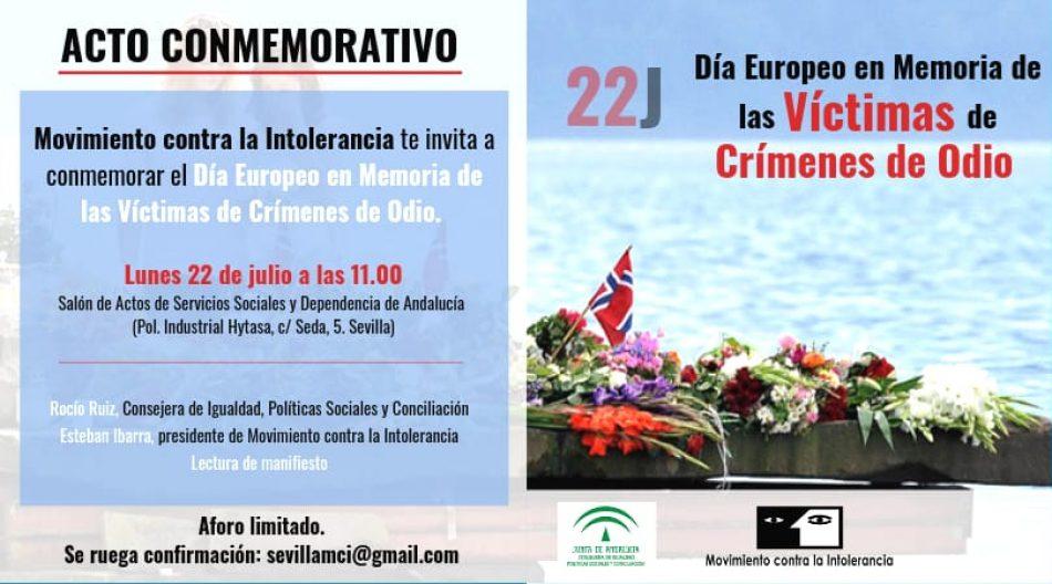 En el Día Europeo de las Víctimas de los Crímenes de Odio, Movimiento contra la Intolerancia  pide reforzar la legislación Penal,  un Plan de Acción y una Ley Integral contra los Delitos de Odio