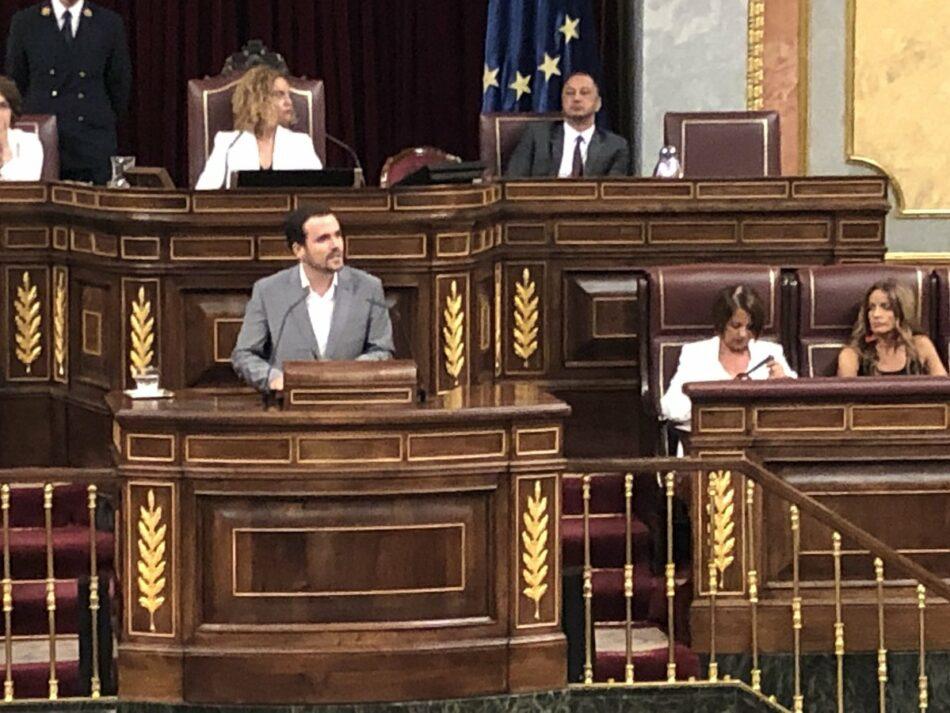 """Alberto Garzón reivindica el eje económico en la negociación de gobierno: """"Reforma laboral, vivienda, salarios y factura de la luz"""""""