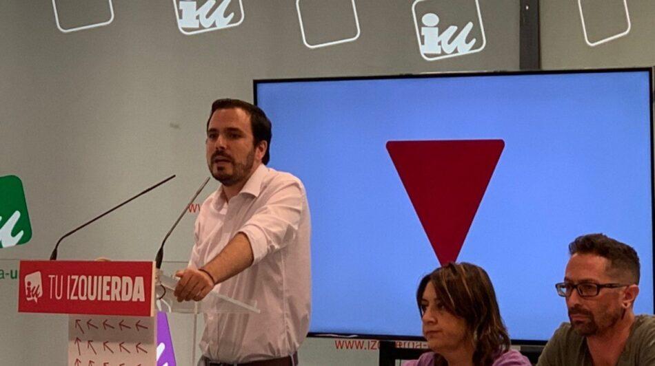 """Garzón plantea a la Coordinadora Federal de IU """"consultar a las bases para que se pronuncien sobre un acuerdo con el PSOE»"""