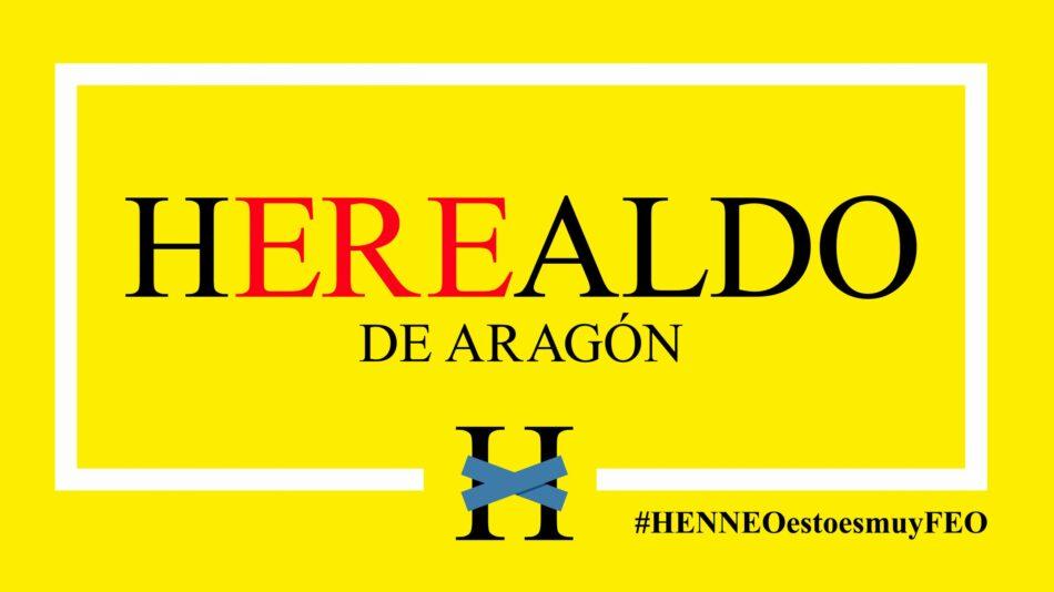 El neoliberalismo pone en la calle al 20% de la plantilla de el Heraldo de Aragón