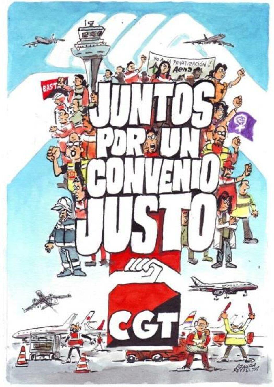 Los trabajadores de Aena en el aeropuerto de Bilbao mantienen las huelgas y paros convocados para este verano