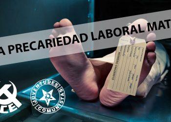 El PCE y la UJCE de Aragón ante la muerte de un trabajador en Brochales