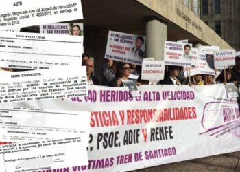 Víctimas del Tren de Santiago: «6 años después, el PSOE sigue los pasos del PP»