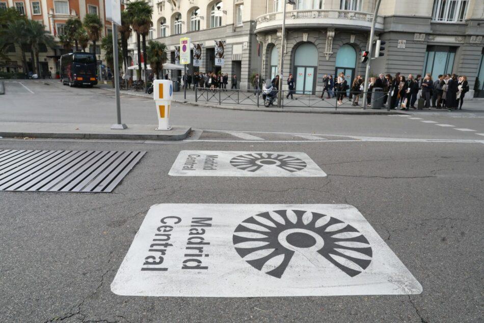 Un tribunal admite un recurso contra la moratoria de Madrid Central presentada por el IIDM y grupos vecinales