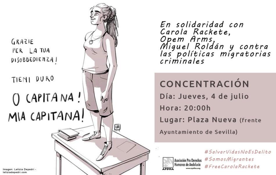 Concentración, jueves 4 de julio: «Salvar vidas no es delito y contra la políticas migratorias criminales»