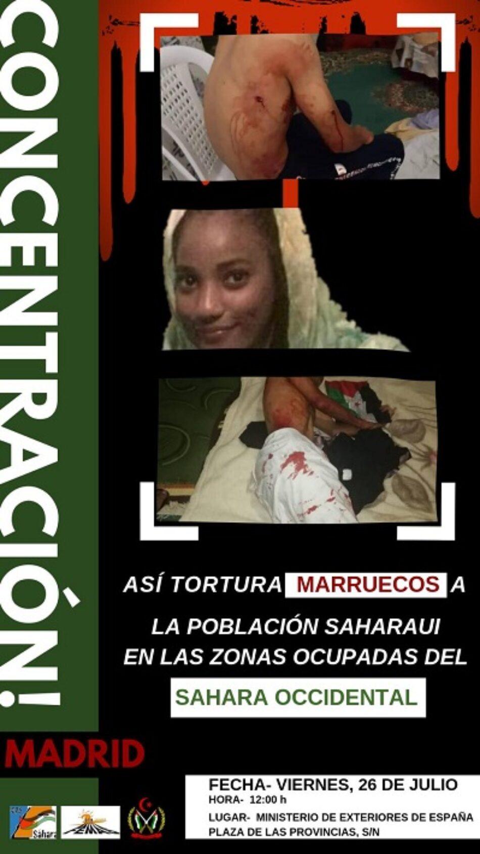 Exigimos al Gobierno de España que no sea cómplice con su silencio del genocidio que se está cometiendo en el Sahara Occidental ocupado por Marruecos