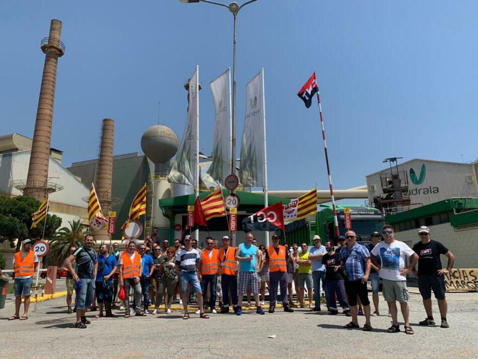 Huelga por la negociación colectiva en la planta de Vidrala de Castellar del Vallés