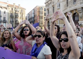 Clamor de mujeres en Bilbao contra violencia machista